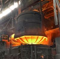 ЭСПЦ. Загрузка металлоломом дуговой электросталеплавильной печи